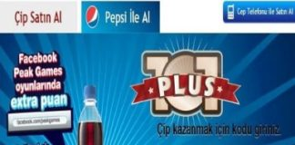 101 Okey Plus Pepsi Şifreleri Kasım Aralık 2016