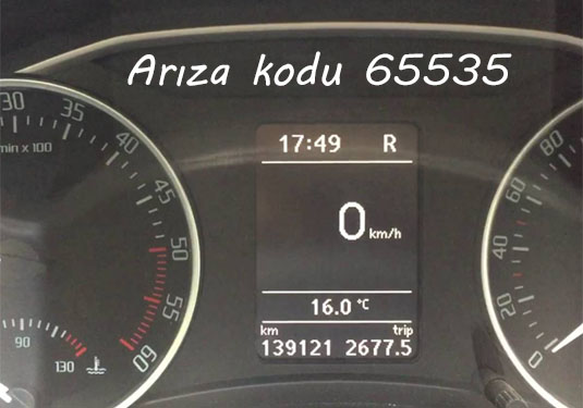 Arıza kodu 65535