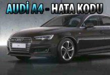 Arıza kodları Audi - Arıza Kodu