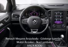 Renault Megane Arıza kodu - Gösterge işaretleri - Motor Arızaları - İkaz Lambaları