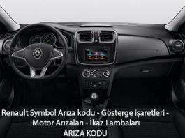 Renault Symbol Arıza kodu - Gösterge işaretleri - Motor Arızaları - İkaz Lambaları