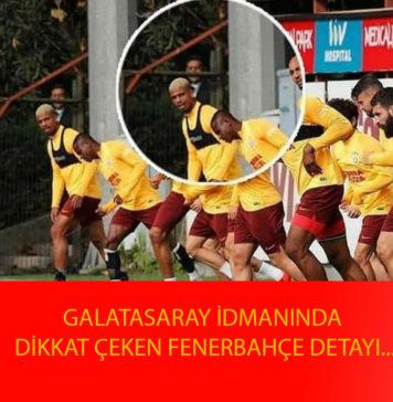 Galatasaray İdmanında Dikkat Çeken Detay
